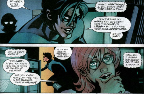 "tinyredbird:  comic-commentary:  dick grayson, you are fabulous do not let anyone tell you otherwise  God he's socute I have all the feels  Cannot even handle the cuteness. <3 And I love that he calls Tim ""little buddy"". Dick, why are you so freakin' precious?"