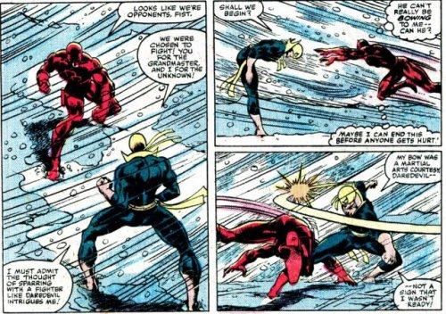 Iron Fist vs Daredevil