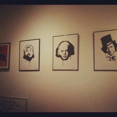 3 of #myfavorite #movie #men hang above my wall thanks to @galleries1988 and @jensenclan88 Look, dad! I'm starting an #artcollection! (Taken with Instagram)