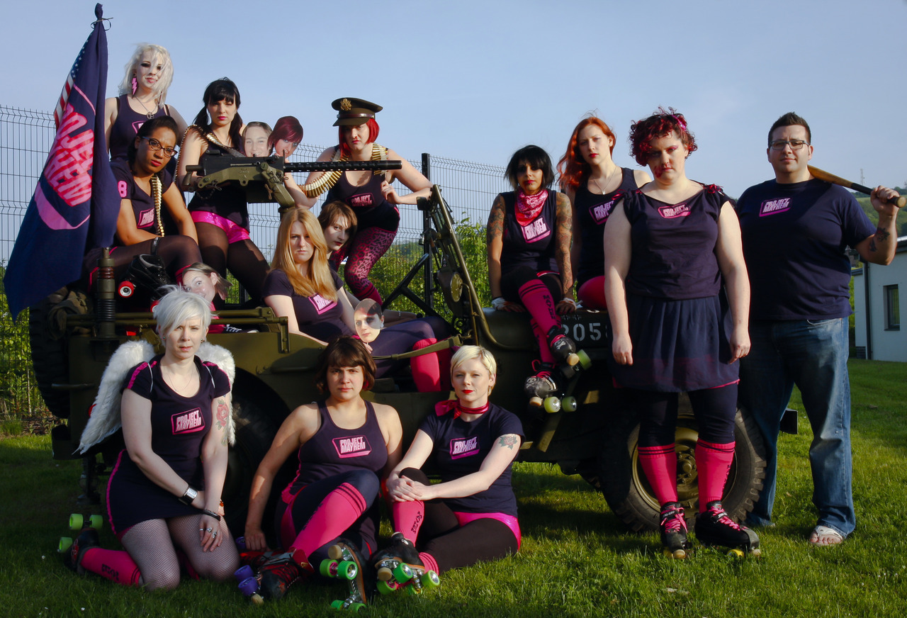 bristol roller derby teams - summer 2012. my team is the daughters of anarchy. : )