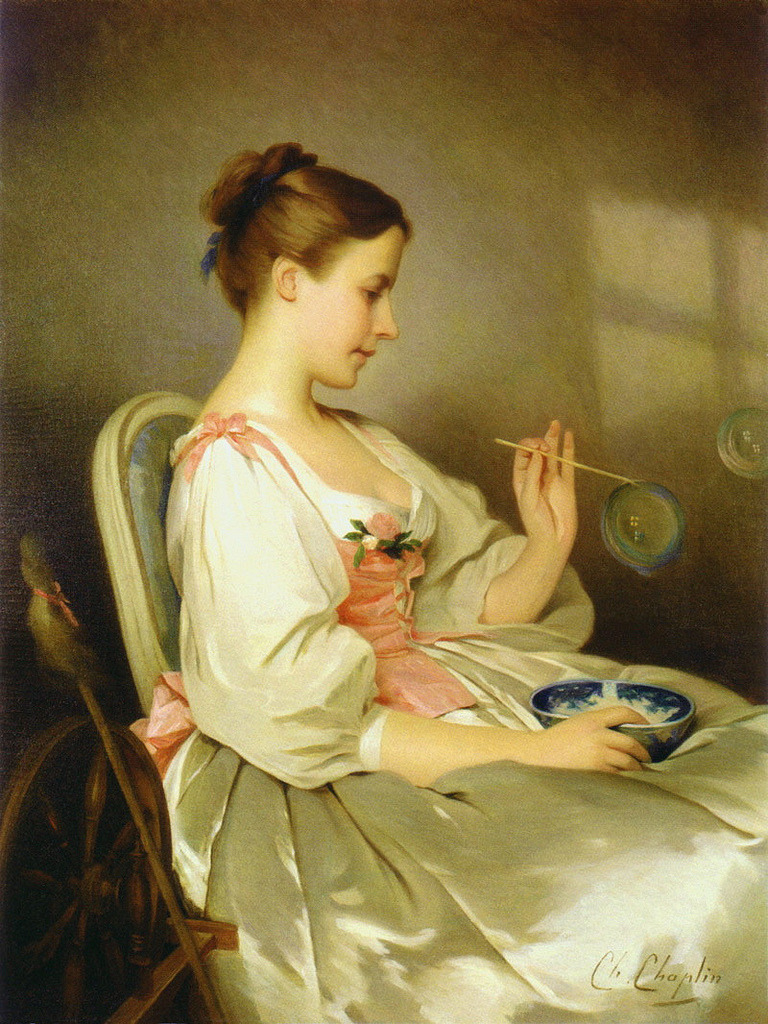 Charles Joshua Chaplin, (French, 1825-1891) - Soap Bubbles