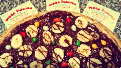 Nutella pizza by Flekica