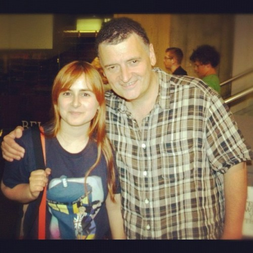 saniday:  Me and the troll of fandoms, amazing Steven Moffat ^^ #doctorwho #asylumofthedaleks (Taken with Instagram at BFI Southbank)  Happy birthday, Steven, I'll never forget meeting you ♡