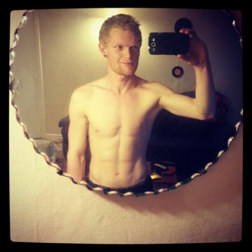 #progress #selfie #topless (Taken with Instagram)