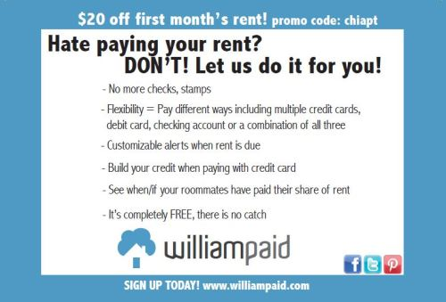 What do you think of this guerrilla social marketing campaign for WilliamPaid, an online rent payment service? More info here: http://gossipgenie.com/combining-social-media-and-guerilla-marketing/