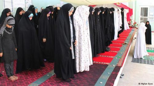 Afghan women attend congregational prayer during Ramadhan in Afghanistan. (*Caption Edited - Thanks antieverythingism) AfghanEyes