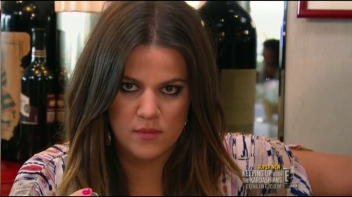 khloe kardashian-odom is not amused.