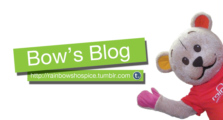 Rainbows Hospice now have a Tumblr blog, give them a follow here: http://rainbowshospice.tumblr.com/