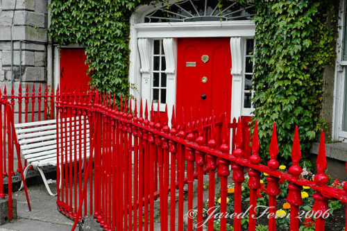 The Red Door by SewerDoc on Flickr.