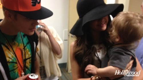 Justin and Selena backstage at the Phish concert.