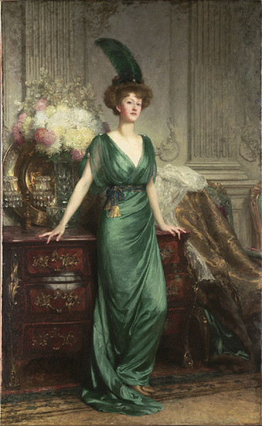 chaosinadress:  Portrait of the Hon. Mrs Ernest Guinness by Sir Frank Dicksee