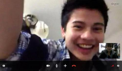 Skype with Ate Kippy. Credits to Baby Kippy XD. Gaahd XD