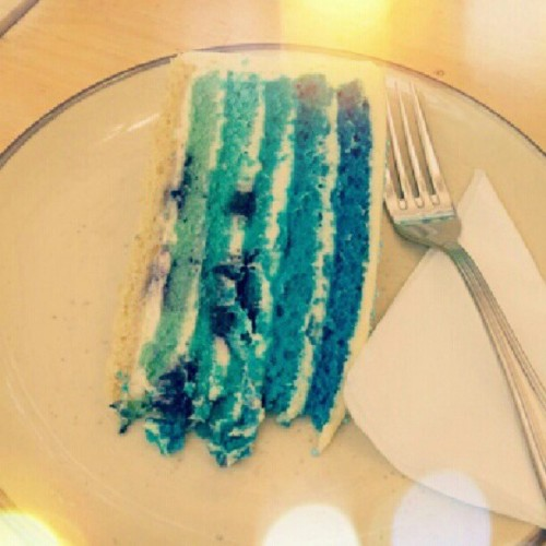 pretty blue #ombre #cake  (Taken with Instagram)