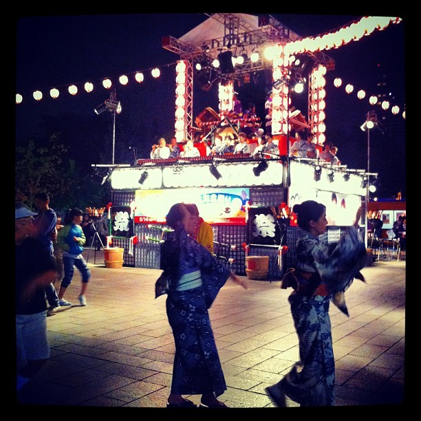 Bon Odori #japan #japon #obon (Taken with Instagram)