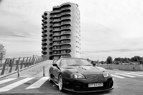 My Supra in front of my home in Copenhagen