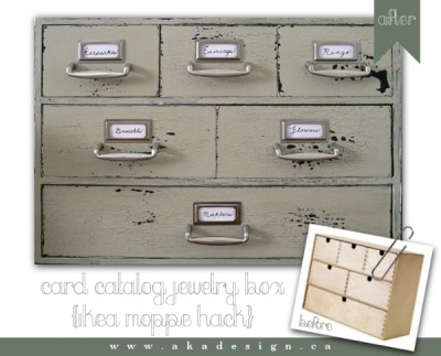 kraftykristin:  DIY card catalog jewelry box! Love it! (via Card Catalog…Jewelry Box?)