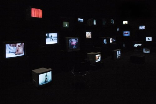 crematorie:  Video installation by Douglas Gordon.