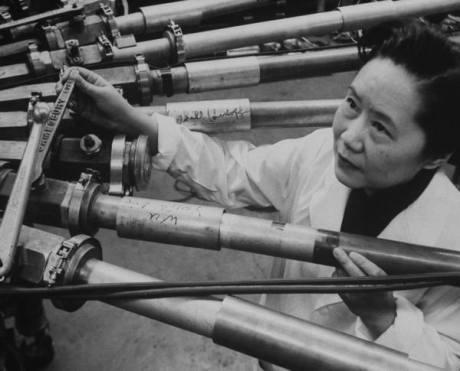 "Chien-Shiung Wu was a Chinese-American physicist who specialized in experimental physics and radioactivity, at a time when few women were in the field. She worked on the Manhattan Project, where she helped to develop the process for separating uranium metal into the U-235 and U-238 isotopes by gaseous diffusion. She later performed experiments that helped further our understanding of physics. She was also the first: Chinese-American to be elected into the U.S. National Academy of Sciences Female instructor in the Physics Department of Princeton University Woman with an honorary doctorate from Princeton University Female President of the American Physical Society, elected in 1975 Person selected to receive the Wolf Prize in Physics in its inaugural year of 1978. Her honorary nicknames include the ""First Lady of Physics,"" the ""Chinese Marie Curie,"" and ""Madame Wu."""