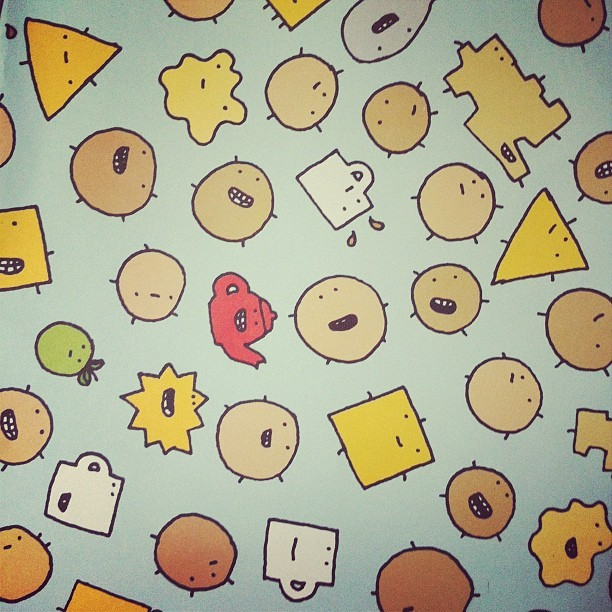 Mr. Scruff wrapping paper #ninjatune #mybirthday (Taken with Instagram)