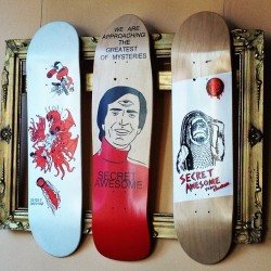 miniaturemouse:  #secretawesome #custom #capecod #screenprinted #skateboards #coffeeshop #art (Taken with Instagram at Coffee Obsession)