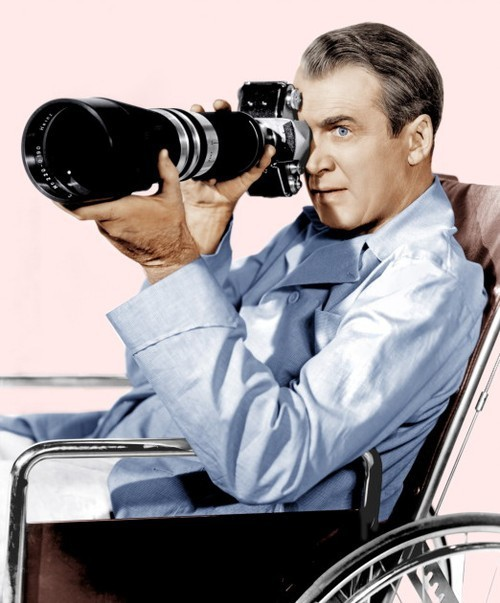 theniftyfifties:  James Stewart in 'Rear Window', 1954.  One of my favourite movies of all time…