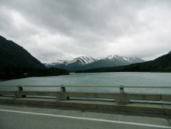 On the ride out of Anchorage.
