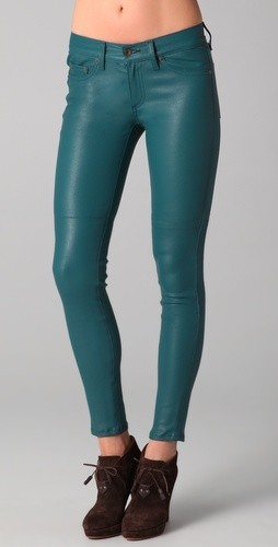 What Would Khaleesi Wear?Dothraki Blue Leather Skinny Jeans from Rag & Bone