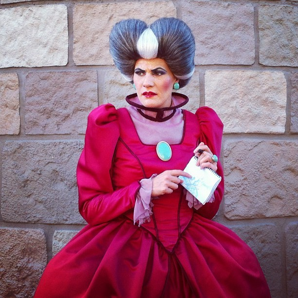 She's a man, baby! Evil stepmother at Cinderella's Castle. #wdw #disney (Taken with Instagram at Cinderella Castle)