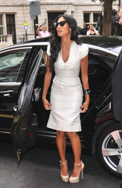 Nicole Scherzinger arriving at X-Factor UK auditions today…
