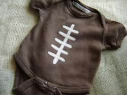 Football Onesie by Pretty Lady Anne (Etsy, US)
