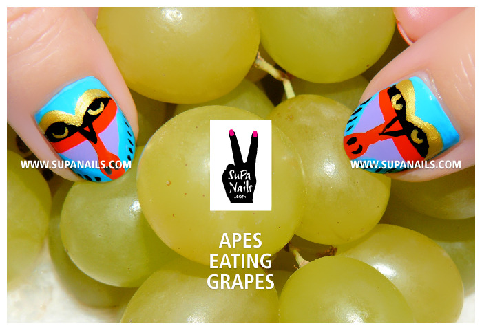 Apes eating Grapes