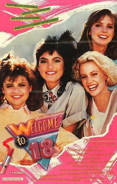 Welcome to 18 (1986)  The film follows the adventures of three high school girls the summer after they graduate. After their jobs at a dude ranch fail to work out, the girls head to Lake Tahoe where they meet Talia (Cristen Kauffman). Talia's boyfriend Roscoe then helps the girls get a job at a casino which leads to trouble.  Cast: Courtney Thorne-Smith, Mariska Hargitay, JoAnn Willette, Cristen Kauffman Follow this blog for the neverending list of all the teen movies ever made!