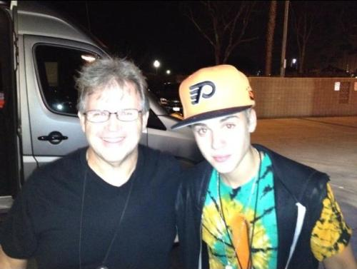 Justin with fan at Phish concert