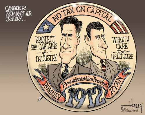 David Horsey: Mitt Romney-Paul Ryan vision harks back to the days of Taft