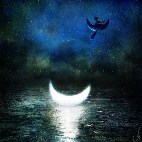 Daily Deviation 08.16.12  It was a dull night…, a divine work of surrealistic creativity by *AlexanderJansson - absolutely charming!