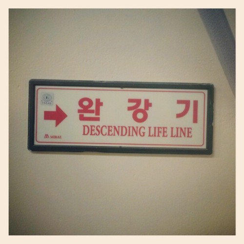 Sometimes life lines descend….if youre lucky they ascend. (Taken with Instagram)
