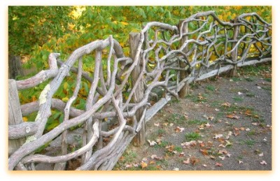 Tree branch fence for outdoorsy Starks like Bran and Arya