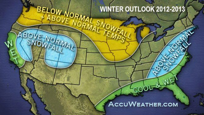 Well…..here is what this 2012-2013 winter season will look like. Northeast: Get your shovels, snow blowers, and snow boots ready! IT IS COMING.