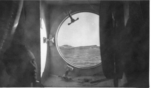 Adak, Dec 1942/43, as viewed through transport port hole.