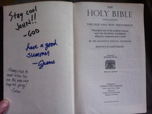 theblackship:  atheist-overdose:  Lucky enough to get a signed copy…  OMG you got all three of them!!