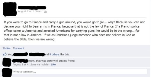 atheist-overdose:  My fb friend shows that some christians actually understand the idea of religious freedom