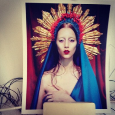 Holy fool #ladygaga#virginmary#saint#littlemonster#devilofpop#queenofpop (Taken with Instagram)