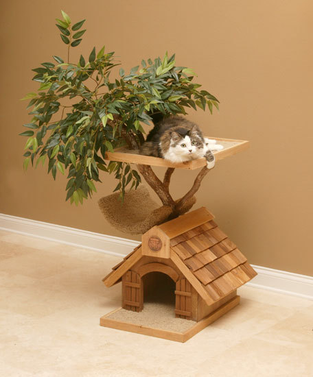 More cat tree house designs here: www.decodir.com/2010/02/creative-and-beautiful-cat-tree-house-from-pet-tree-house/