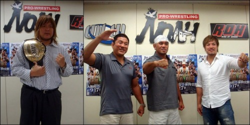 "[NOAH News] It has been announced that Takeshi Morishima will be defending the GHC Heavyweight Championship against KENTA on September 19th during Jun Akiyama's 20th Anniversary show. Also announced is Akiyama's anniversary match as he teams with Go Shiozaki and long time friend and rival Yuji Nagata as they face off against the team of Yoshihiro Takayama, Minoru Suzuki & Maybach Taniguchi.  NOAH ""GREAT VOYAGE 2012 in OSAKA vol.2 ~Jun Akiyama Special 20th Anniversary~, 9/17/2012 [Mon] 16:00 @ Osaka BODYMAKER COLOSSEUM ~ Osaka Prefectural Gymnasium (-) Akiyama's 20th Anniversary Match: Jun Akiyama, Go Shiozaki & Yuji Nagata [NJPW] vs. Yoshihiro Takayama, Minoru Suzuki & Maybach Taniguchi (-) GHC Heavyweight Championship Match: [Champion] Takeshi Morishima vs. [Challenger] KENTA ~ 5th Defense."