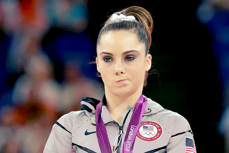"McKayla Maroney is Not Impressed ""I think it's really funny. At first, I was really confused and I couldn't believe that just from making that face for two seconds it could turn into that, but I guess in my head I was just disappointed that I fell on my butt at the Olympics. And when the National Anthem was playing, and it wasn't my country, I was just thinking in my head, like just dang it, and that's what my face did."" Source: JustjaredJr"