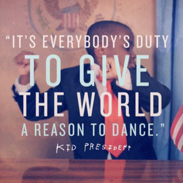 thehappyprojectblog:  Happiness is giving the world a reason to dance.