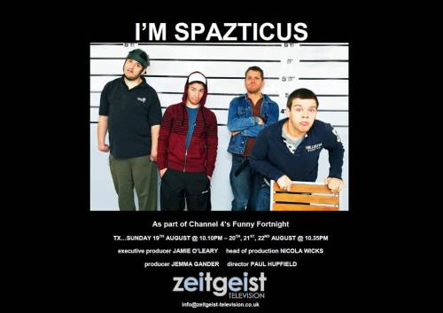 Pretty excited that I'm Spazticus starts on Sunday on Channel 4.  We created some animated idents to run along side of the comedy gold created by Zeitgeist Television.