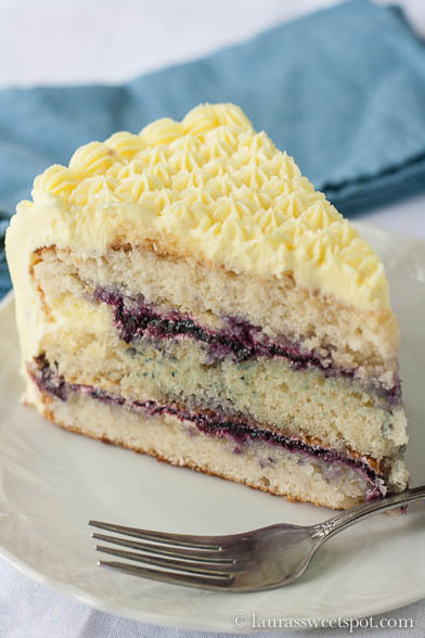 lemon-blueberry cake.
