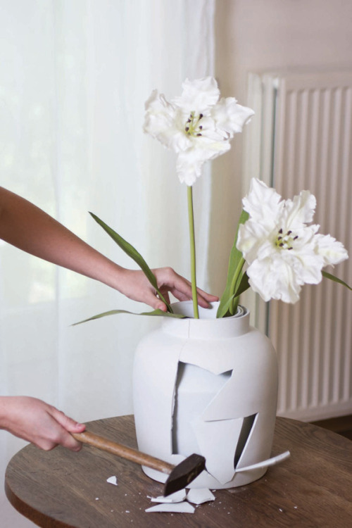 (via It's Nice That : The Curious Vase makes you break it to discover what lies beneath Reminds me of that dresser that opens up another drawer as soon as you close one.