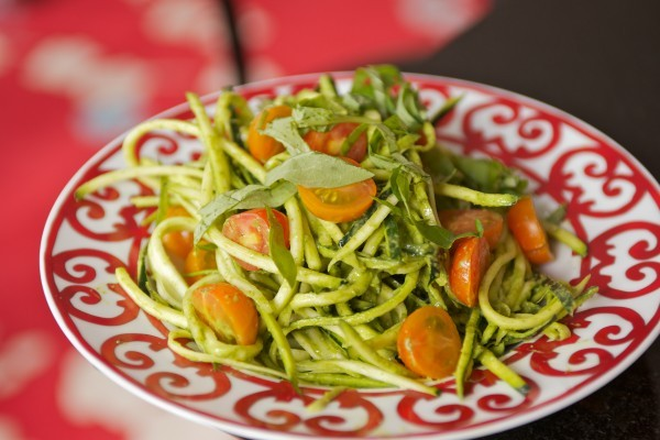 ZUCCHINI PASTA WITH CREAMY BASIL SAUCE (via Whole Living Daily | Sara Jane Mercer)